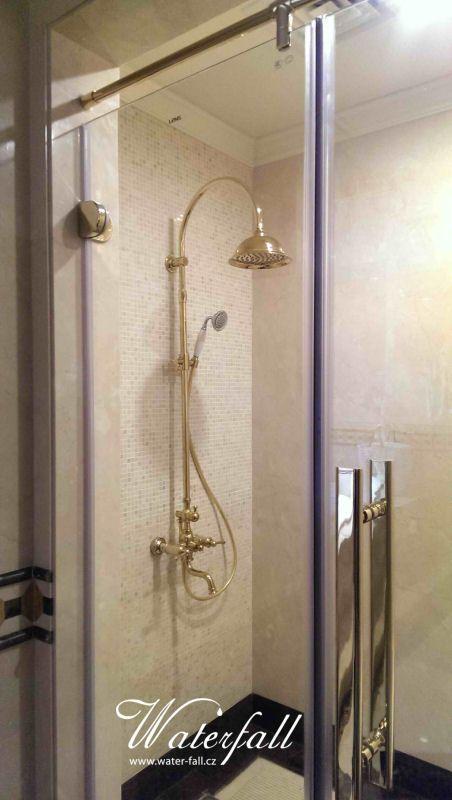 Luxusní sprcha zlatá