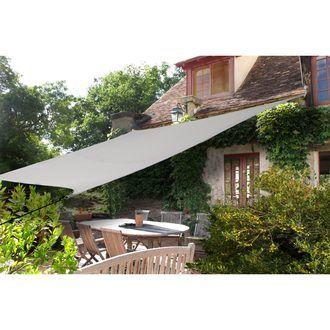 Voile d ombrage rectangulaire 4x2.9m JARDIN PLAISIR