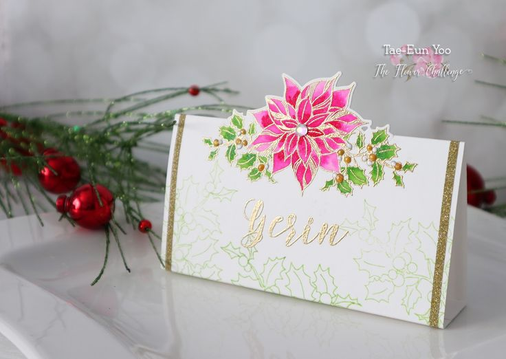rainbow in november: The Flower Challenge #15 - Anything but a Card Reminder