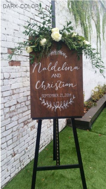 Stained Plywood Custom Sign. Choose your size. Wood wedding Welcome. Ceremony Program. Menu. Wine List. Event Timeline. Seating Chart. Quote by BeeCuriousDesigns on Etsy https://www.etsy.com/listing/166883125/stained-plywood-custom-sign-choose-your