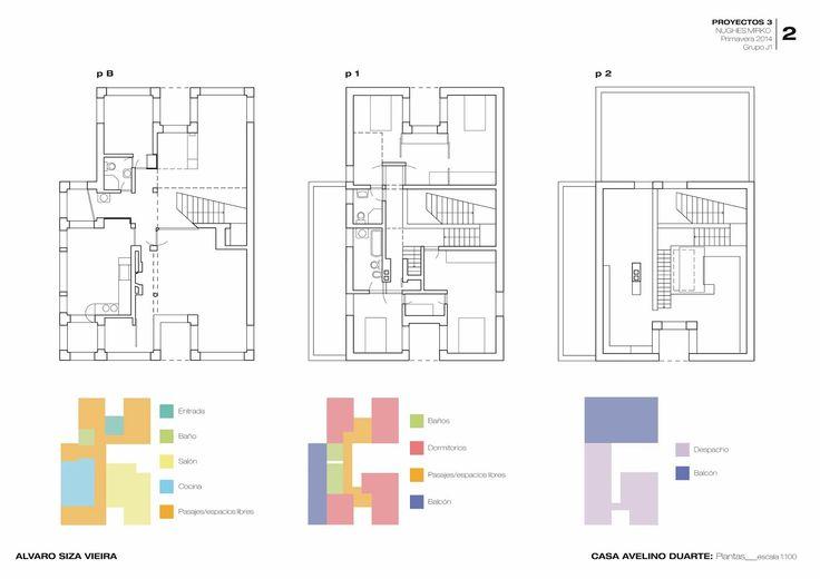 Proyectos 3: Ex2: Casas patio y casas compactas__Estudio de una casa compacta: Casa Avelino Duarte por Alvaro Siza Vieira