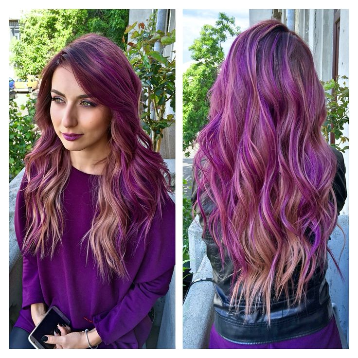 #purple #hair #colormelt