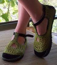 diy crochet slippers - Google Search