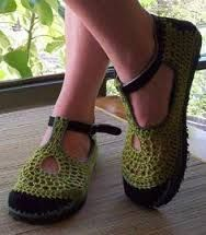 diy crochet slippers - Google Search
