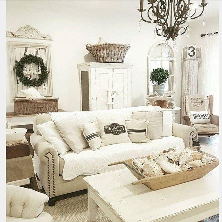 Fabulous Shabby Chic Farmhouse Living Room Decor Ideas 02 Shabby Chic Decor Living Room Shabby Chic Living Room Shabby Chic Room #rustic #chic #decor #living #room