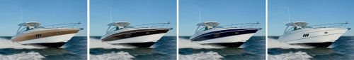 Hull color choices for the Cruisers Yachts 380 Express.