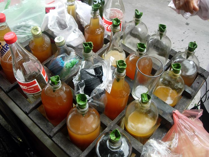 Jamu cart in Indonesia. Every morning herbalists bring around tonics for the shopkeepers.
