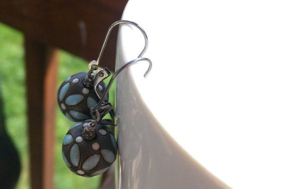 Starflower: Czech Flower Earrings a la  en Etsy
