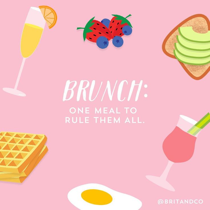 Brunch: One meal to rule them all.