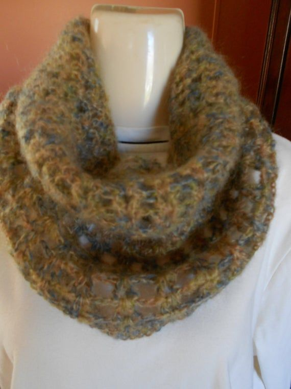 Handmade spring Snood Cobweb Cowl Mohair Cowl Lace Cape Crocheted Scarf Scarf Womens Accessories Winter Cowl Gift for Mother Handmade Mohair Cowl Crocheted Scarf Fall Scarf Womens Accessories Winter Cowl Light cowl made from mohair Colour: beige brown blue  Care Instructions: Hand Wash Cold wash / Cold rinse Lay flat to dry.