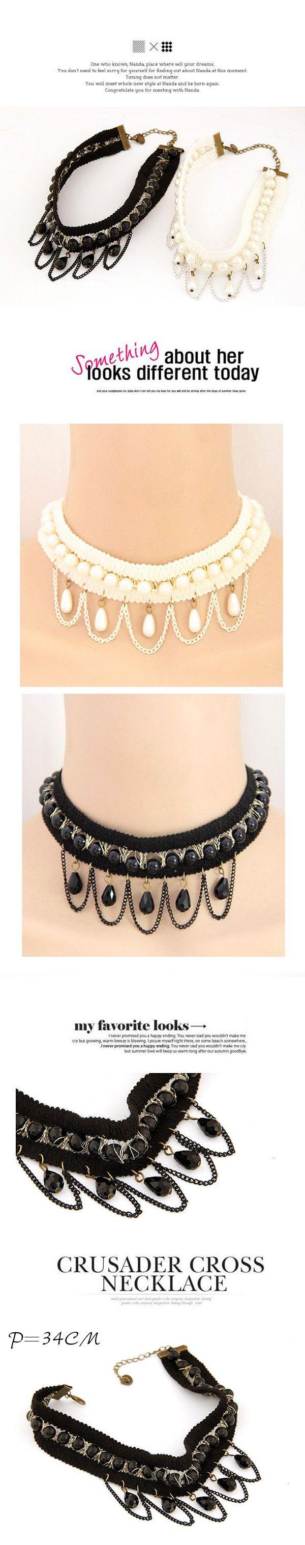 Choker Tassel Lace Design Collar