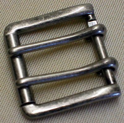 STABILE Gürtelschnalle f. 4cm breite GÜRTEL Doppeldornschnalle NEU Doppeldorn 1A 2