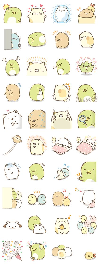 The Sumikko Gurashi gang step out of their corner for a second set of stickers. See more of their cute expressions and a new addition to the gang.