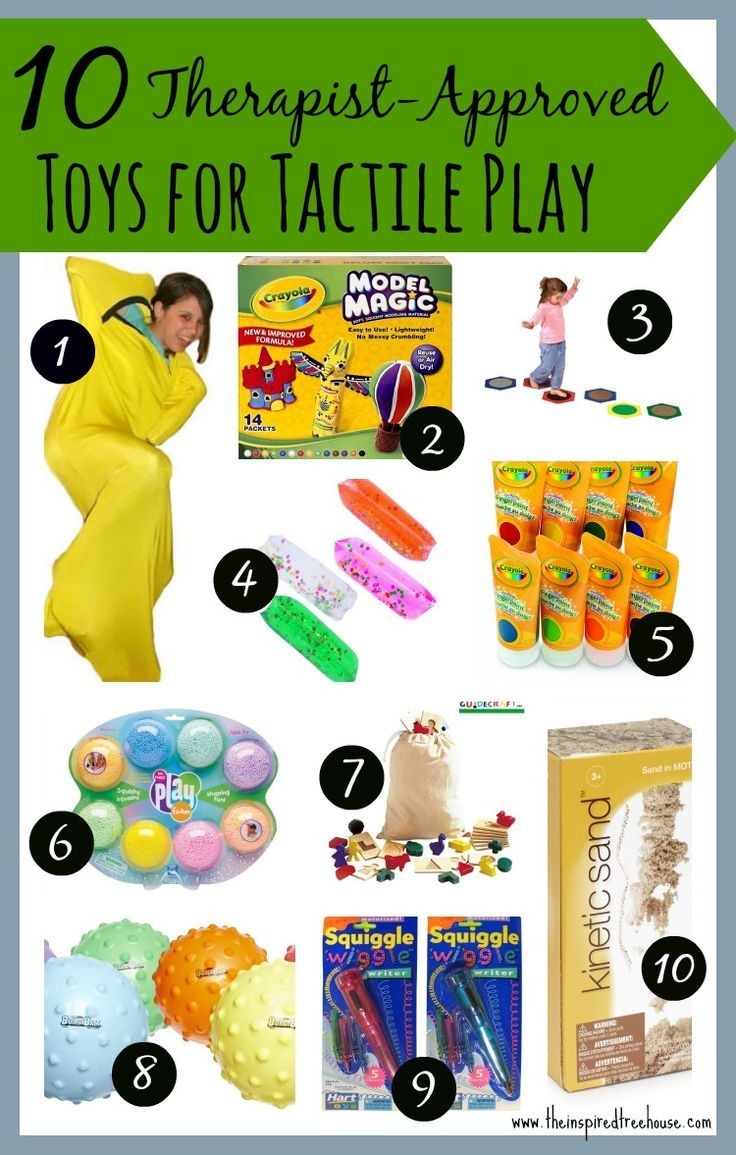 These are some of our favorite toys that we use regularly in our pediatric therapy practice and with our little ones at home to provide fun, playful exposure to tactile experiences. #tactileplay #touch #sensoryplay