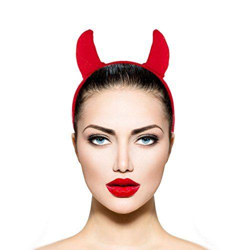 Lux Accessories Red Fabric Devil Halloween Costume Accessory Headband