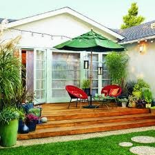 Deck: Plants Can, Small Yard, Decks Ideas, Outdoor Living, Step Stones, Patio, Backyard Decks, Small Spaces, Outdoor Spaces