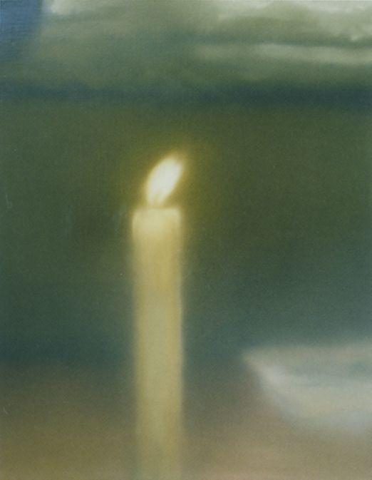 Kerze, Gerhard Richter Candle 1982 80 cm x 65 cm  Werkverzeichnis: 498-3 Öl auf Leinwand