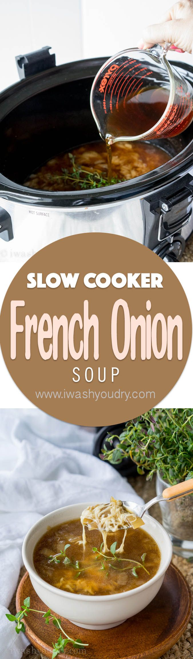 Not only is this Slow Cooker French Onion Soup easy to prepare, but it's also on the healthy side! Perfect for keeping my resolutions and still being able to enjoy my favorite comfort foods!