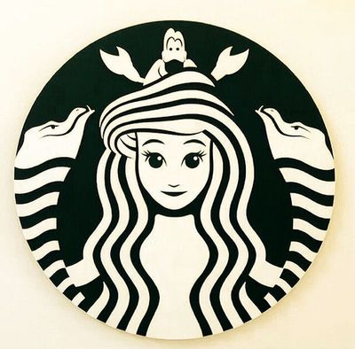 Starbucks ariel. Simple, subtle graphic. Love