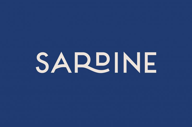 Here Design | Sardine #branding #identity #graphicdesign logo typography design
