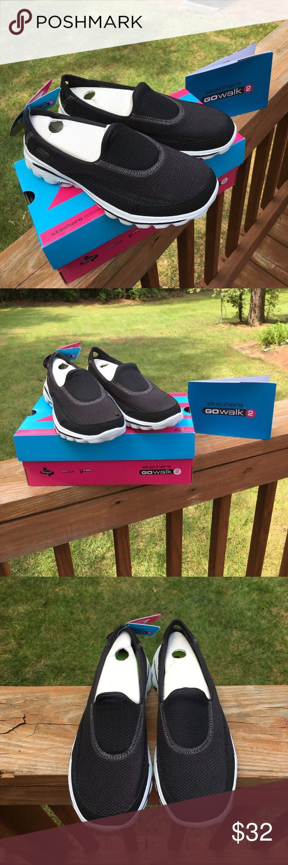 ♠️ NEW Skechers Go Walk 2 Black & White ♠️ ♠️  Skechers Go Walk 2 Black & White OrthoLite Shoes - Brand New w/Box - Size 8.5.  This is one of the most comfortable shoes I have ever worn, but I wear a different size !!  Not only are they comfortable, they are very durable and easy to clean !!  ♠️ Skechers Shoes Athletic Shoes