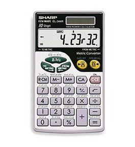 Sharp EL-344RB Pocket Solar with Metric Converter Calculator