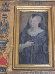 Marie de Cossé-Brissac, duchesse de la Meilleraye, se fit peindre sous en Marie Stuart dans son Cabinet des femmes célèbres, à  l'Arsenal à Paris.