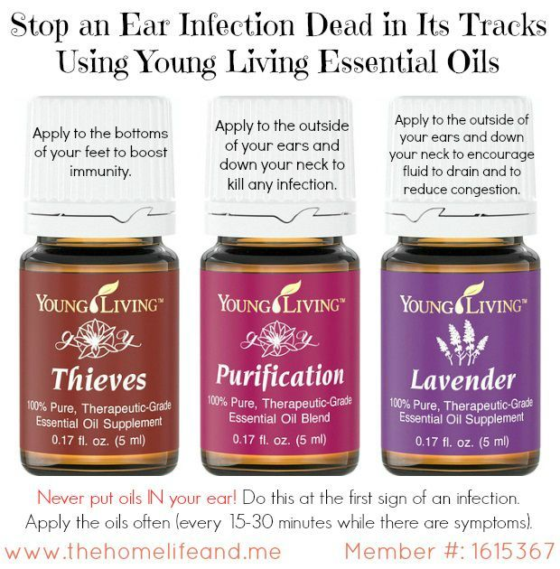 Heres how I used my trusty Young Living Essential Oils to get relief from an ear infection.