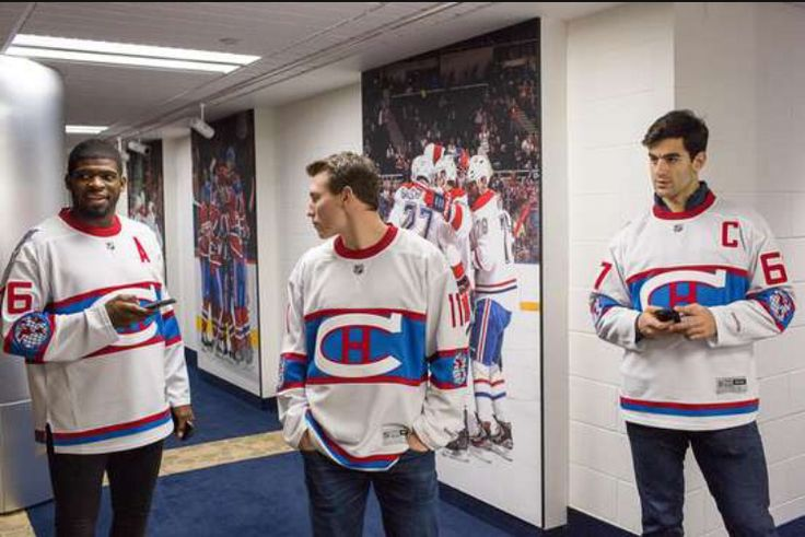 The 2016 Winter Classic Jerseys. P.K Subban, Brendan Gallagher and Max Pacioretty