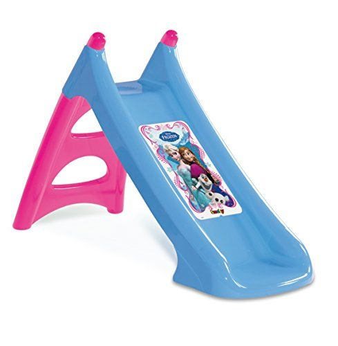 Disney Smoby Frozen Slide Playground Equipment Ergonomic FROZEN slide for the little ones! XS a clever design for a compact and an easy storage. Slide length: 90cm. Comes with a blowmoulded ladder for extra stability (Barcode EAN = 3032163100737) http://www.comparestoreprices.co.uk/december-2016-6/disney-smoby-frozen-slide-playground-equipment.asp