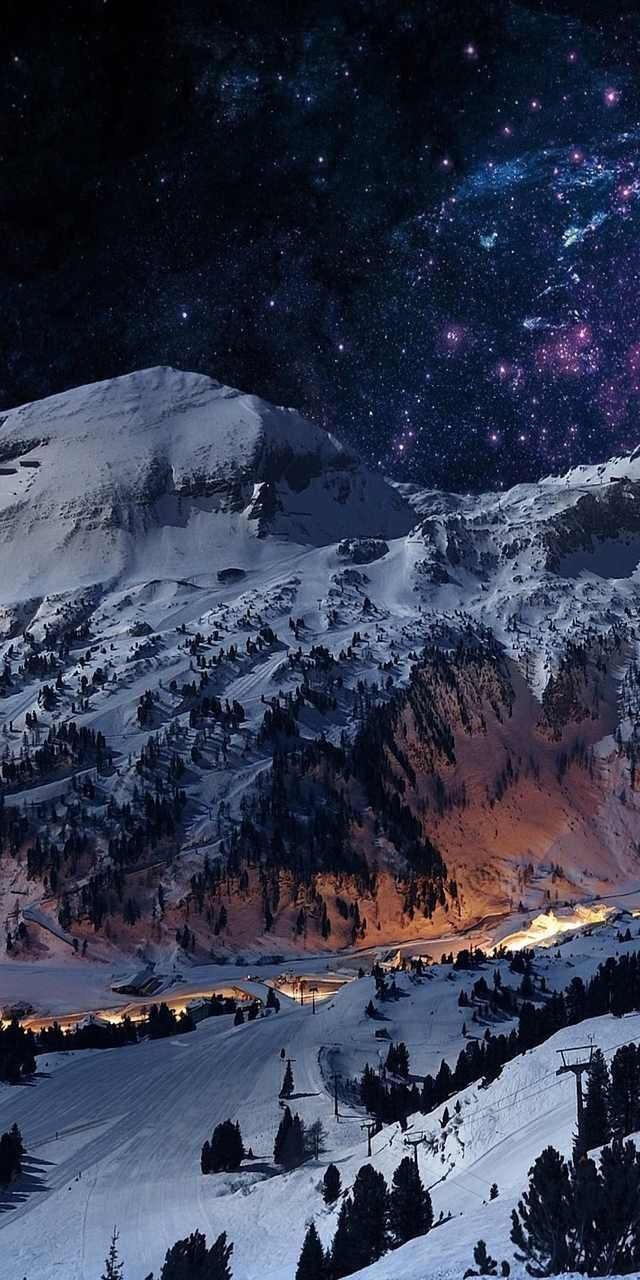 Pin By Mountain On Mountain Iphone Wallpaper Winter Winter Wallpaper Landscape Wallpaper