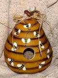 Gourd Craft Ideas Birdhouses | , Buzz Inn is birdhouse. I created this beehive out of a dried gourd ...