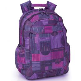 Gabol Velvet Multi Backpack  - Beautiful purple motif! #Backpacks4Girls #BTS #BackToSchool #SchoolBags