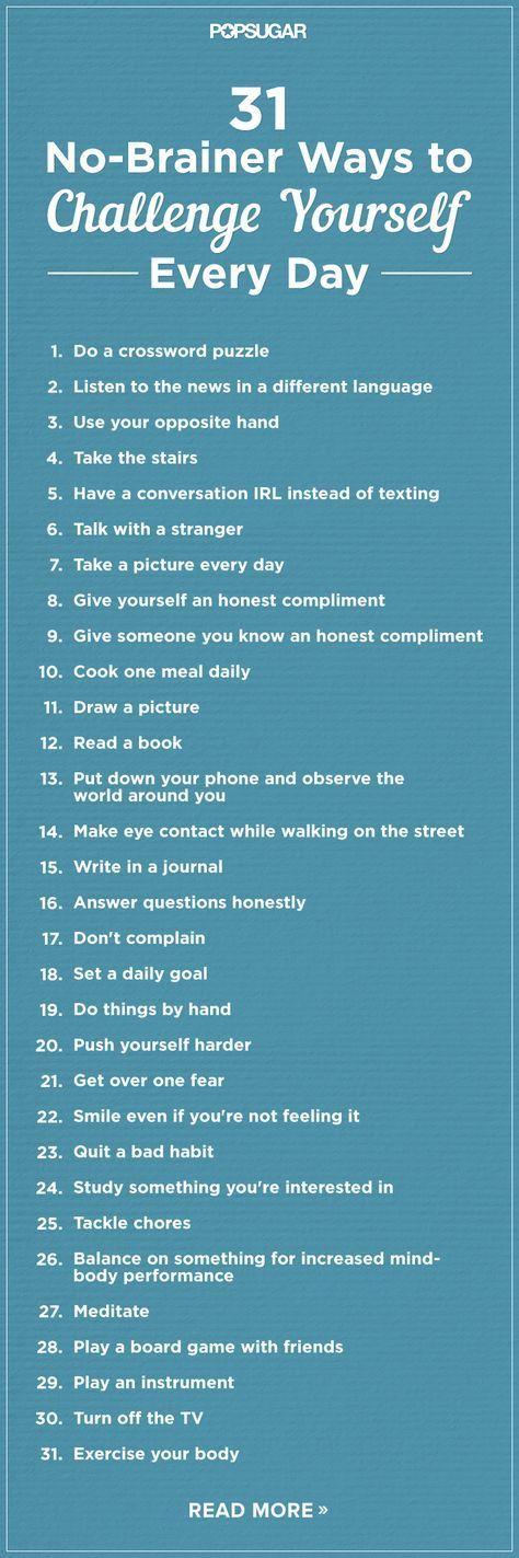 31 einfache Wege, sich jeden Tag herauszufordern -…