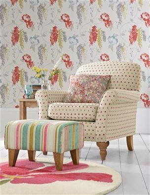 Wallace Chair and Footstool