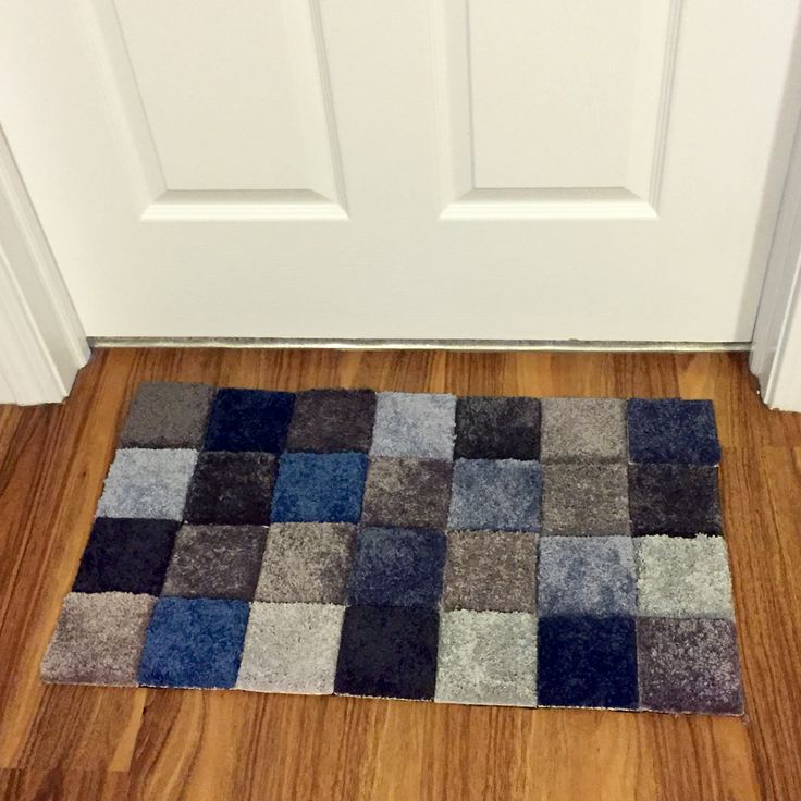 Carpet sample rug we made for free. Just need duct tape and carpet samples!