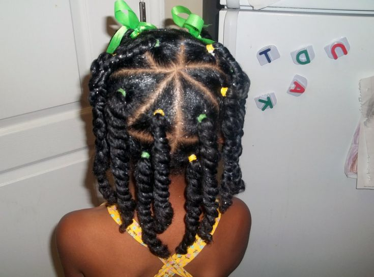 Natural Hair for Kids. I think is the most cute, easy hairstyle I seen(Kadesjah)