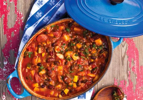 Crazy Sexy Bean Chili from Food Matters. I am always a touch ahead of the seasons in my pinning. And I am also always looking for great vegetable-based chili recipes. This one looks like a winner!