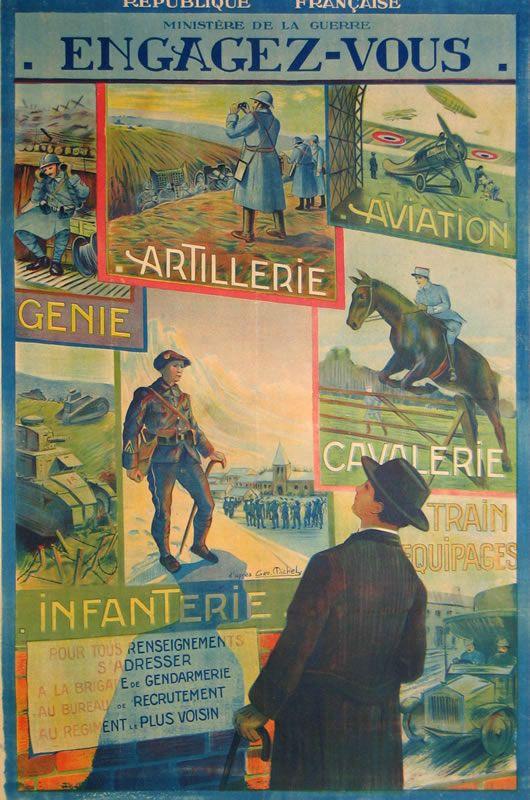 d'apres George Michel Poster: Engagez-Vous