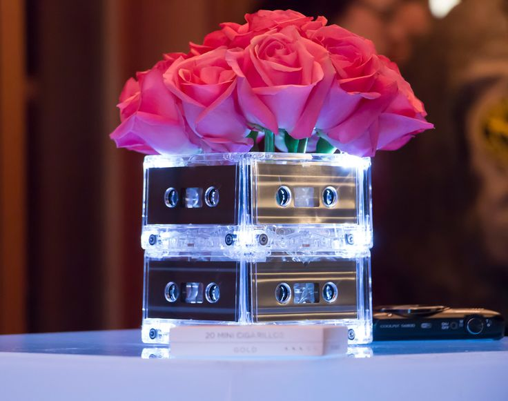 80s theme centerpiece; 80s theme party ideas