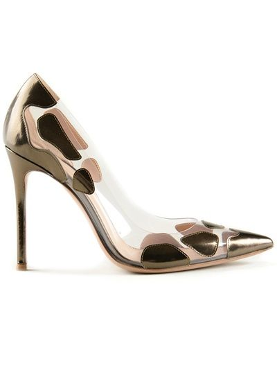 Shop now: Gianvito Rossi spotted pumps