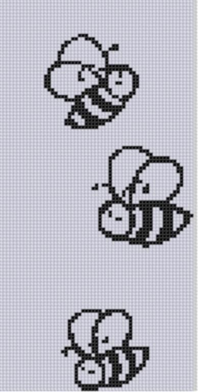 Buzzing Bees Cross Stitch Pattern
