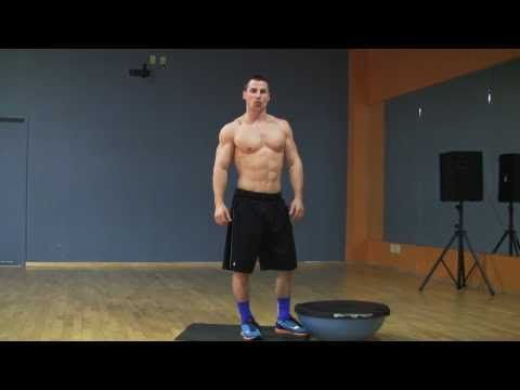 Alternating Forward Lunges with Bosu Ball Core Burning Goodness