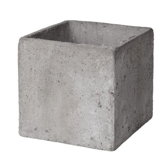 kruka betong kub 17 cm outside ideas pinterest vaser krukor och f r hemmet. Black Bedroom Furniture Sets. Home Design Ideas