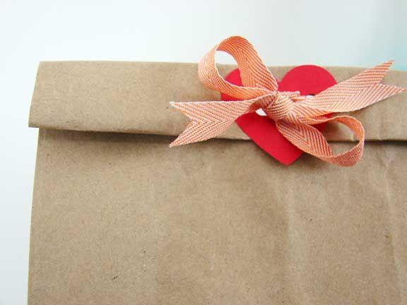 Cute Embellishment on a Plain Brown Bag