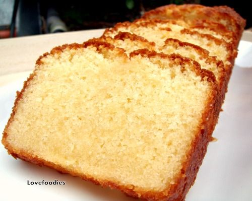 Cake And Loaf Recipes: Moist Vanilla Pound / Loaf Cake