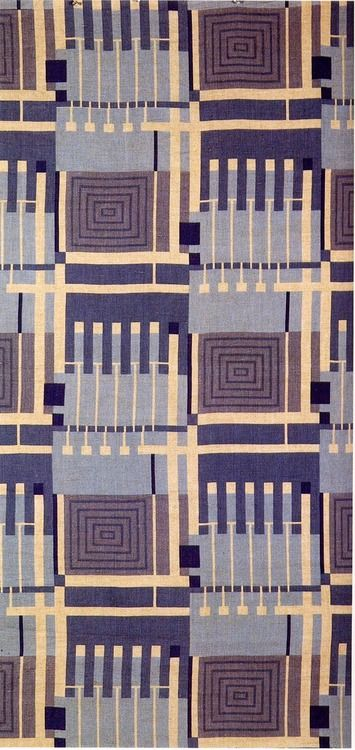 'Design 102′ textile design by Frank Lloyd Wright, produced by F Schumacher & Co in 1957.