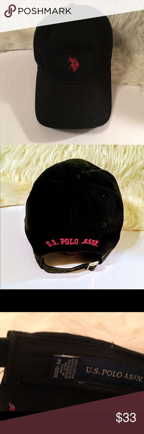 U.S. POLO ASSOCIATION HAT Men's black U.S. POLO ASSOCIATION hat adjustable to fit anyone's hat size!!! ******NOTE!!!!!******This is the US POLO ASSOCIATION BRAND*****🤠🤠🤠PLEASE OBSERVE LABEL OF AUTHENTICITY LOCATED WITHIN HATS INTERIOR AS SHOWN IN PIC🤠🤠🤠***** U.S. Polo Assn. Accessories Hats