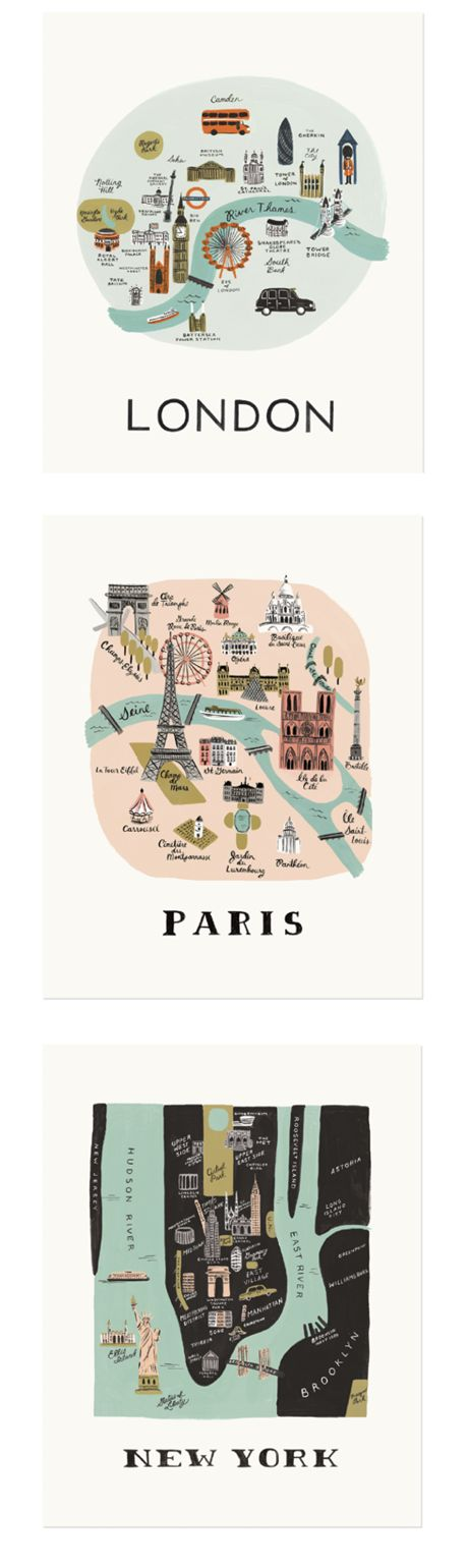 Rifle Paper Co.,city maps,vintage maps,stationery,papermash,paperchase,home shopping spy, ideal home, house to home