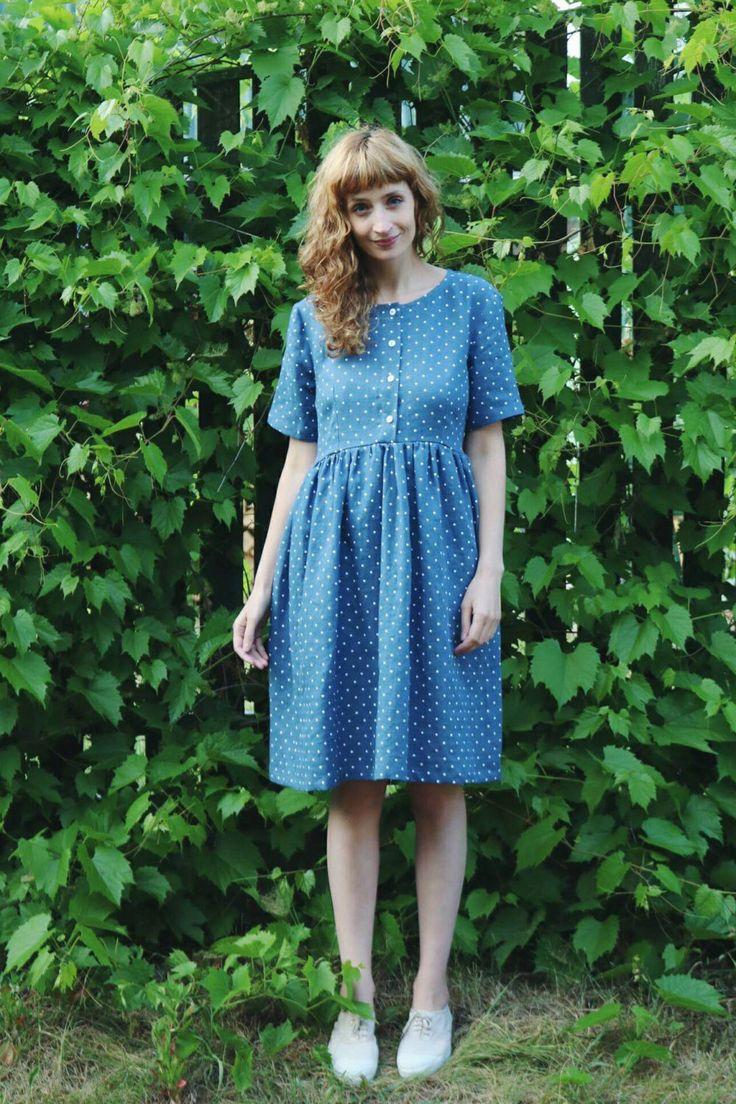 Zwart blauwe jurk uitleg